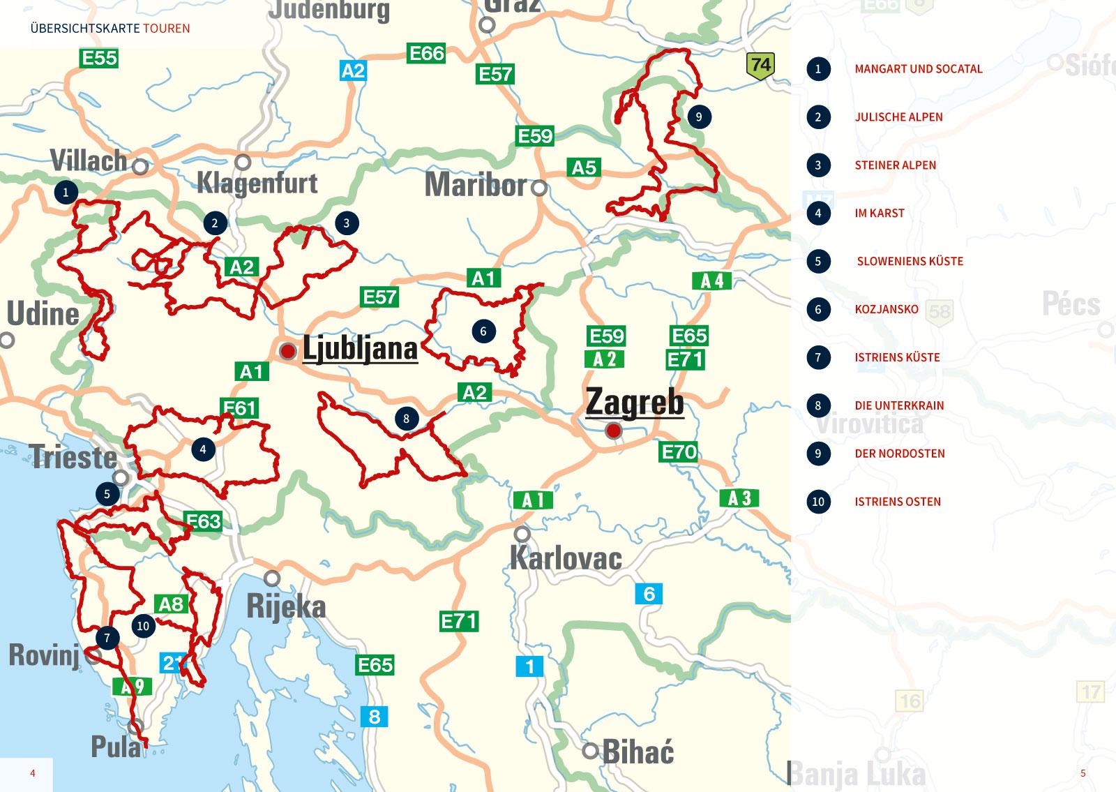 karte istrien slowenien Tourershop24 – der 24/7 Shop für Motorrad Reisende   Motorrad
